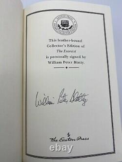 SIGNED Easton Press THE EXORCIST William Peter Blatty Collectors LIMITED Edition