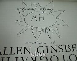 SIGNED + Flower Drawing Allen Ginsberg Photographs Gravure Jack Kerouac 1st ED