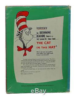 SIGNED How the Grinch Stole Christmas DR. SEUSS First Edition 1st DJ 1957