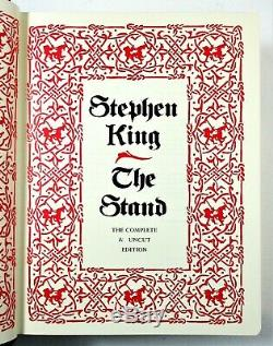 SIGNED LIMITED ED The Stand Stephen King 1990 Leather-bound Box DELUXE FIRST