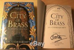 SIGNED Limited Edition City of Brass by S A Chakraborty UK HB 1st/1st