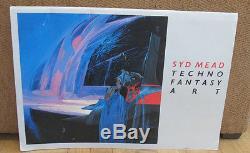 SIGNED Syd Mead Techno Fantasy Art Portfolio Artwork 52 Images Space Futuristic