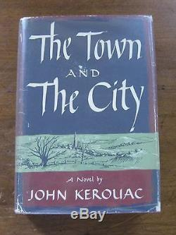 SIGNED THE TOWN AND THE CITY by Jack Kerouac 1st/1st HCDJ 1950 $3.50