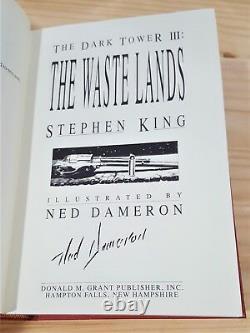 STEPHEN KING THE WASTE LANDS GRANT 1st ED ARTIST SIGNED DARK TOWER GUNSLINGER