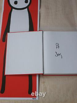 STIK rare Signed & Doodled 1st Edition Book 2015 + Signed Red Poster