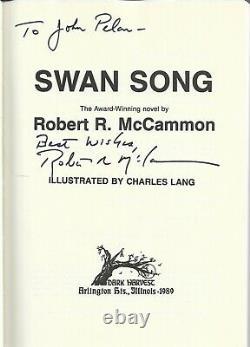 SWAN SONG Robert McCammon (INSCRIBED)