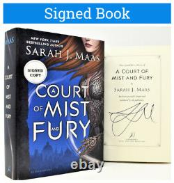 Sarah J Maas SIGNED 1/1 AUTOGRAPHED BOOK Court of Mist and Fury (Silver Flames)
