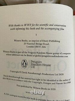Signed 1st edition of David Attenborough's A Life on This Planet