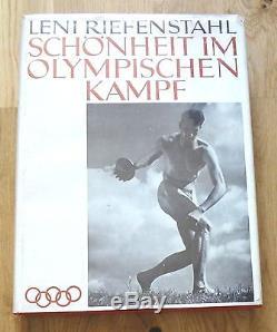 Signed Association Leni Riefenstahl Schonheit IM Olympischen Kampf 1937 Wdj