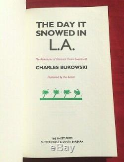 Signed Charles Bukowski The Day It Snowed In L. A. 1986 Paget Press Illustrated