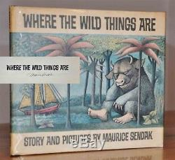 Signed First State Of The 1st/1st Ed. Where The Wild Things Aremaurice Sendak