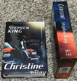 Signed Limited Slipcased CHRISTINE Stephen King #104 PS Publishing UK VERY RARE