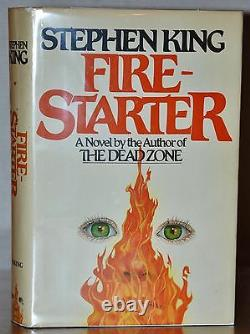 Signed Near Fine 1st Edition, Early Printing Fire-starter Stephen King