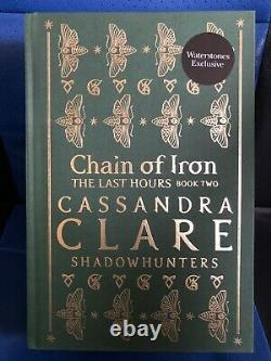 Sold Out Cassandra Clare Chain Of Iron Stamp Signed Waterstones Rune Edition