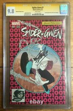 Spider-Gwen #1 Pink Phantom Variant CGC SS Signed by Stan Lee 9.8 ASM 300 Homage