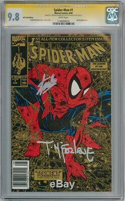 Spider-man #1 Gold Upc Cgc 9.8 Signature Series Signed Stan Lee & Todd Mcfarlane