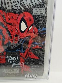 Spiderman #1 Silver Edition CGC 9.6 SS Signed 2X Stan Lee & Todd McFarlane! 1990