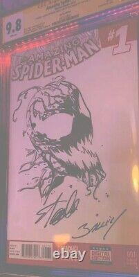 Stan Lee Signed Cgc 9.8 SS Carnage Sketched Art 1/1 The Amazing SpiderMan 1