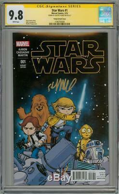 Star Wars #1 Variant Cgc 9.8 Signature Series Signed Skottie Young Marvel Movie