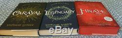 Stephanie Garber Caraval Legendary Finale Trilogy 1/1s w Hidden Covers 2 SIGNED