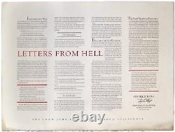 Stephen KING / Letters from Hell Signed 1st Edition 1988