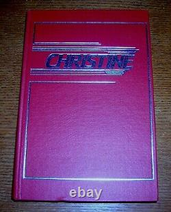 Stephen King Christine Signed Limited Donald Grant Slipcase