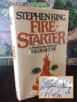 Stephen King Firestarter TRUE First Edition SIGNED (8/18/80) $13.95 VIKING