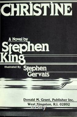 Stephen King Signed Limited Edition 1983 Christine Hardcover withDustjacket