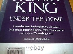 Stephen King-under The Dome-signed-1st Ltd Ed-2009-hb-f-still Sealed-f-v Rare