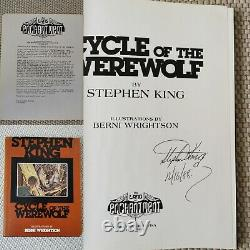 Stephen king signed cycle of the werewolf 1st limited trade edition with letter