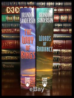 Stormlight Archive BOTH SIGNED by BRANDON SANDERSON Way of Kings Word Radiance