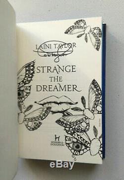 Strange the Dreamer Signed UK 1st/1st Blue-Sprayed Edges Laini Taylor