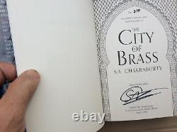 THE CITY OF BRASS S A Chakraborty SIGNED & NUMBERED 2018 UK HB 1/1