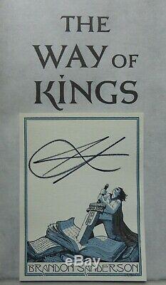THE WAY OF KINGS Brandon Sanderson SIGNED UK 1st ED HB/DJ