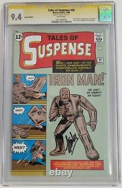 Tales of Suspense #39 CGC 9.4 German Edition Signed by Stan Lee 1st Iron Man