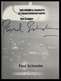 Taxi Driver SIGNED by ROBERT DeNIRO & MARTIN SCORSESE New Deluxe Lettered 1/52