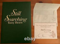 Terry Hearn Still Searching signed leatherbound carp fishing book no barbel