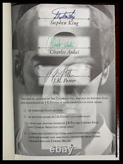 The Colorado Kid SIGNED by STEPHEN KING & POTTER Mint Hardback Limited 1/150