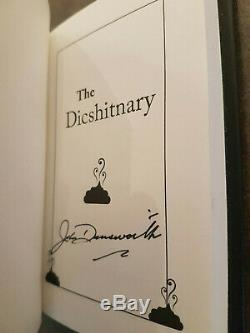The Dicshitnary Mr. Lahey Signed 1st Edition Brand New & Unused John Dunsworth