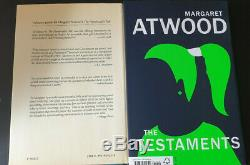 The Handmaid's Tale & The Testaments Margaret Atwood SIGNED First Editions