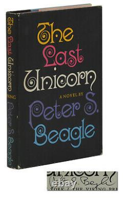 The Last Unicorn PETER S. BEAGLE Signed First Edition 1st Printing 1968