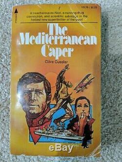 The Mediterranean Caper SIGNED by Clive Cussler true 1st/1st pb pub Pyramid