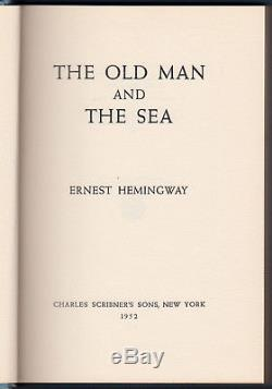 The Old Man and The Sea (1952) ERNEST HEMINGWAY, Signed, 1st Edition Original DJ