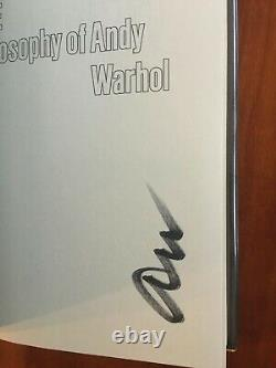 The Philosophy of Andy Warhol. 1st Edition SIGNED by Andy Warhol. RARE