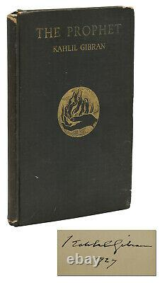 The Prophet SIGNED by KAHLIL GIBRAN First Edition 1st Printing 1923