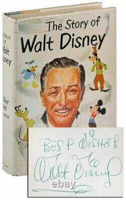 The Story Of Walt Disney-1957-1st/1st Ed-nf/vg Dustjacket-signed By Walt Disney