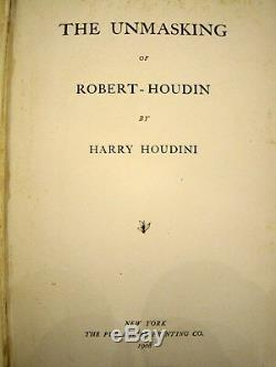 The Unmasking of Robert-Houdin. First edition signed by Harry Houdini