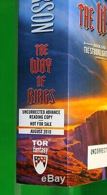 The Way of Kings SIGNED UNCORRECTED PROOF Brandon Sanderson Stormlight Archive