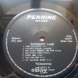 Tickawinda Rosemary Lane Vinyl LP UK 1st Signed Private Press Rare 1 Play NM