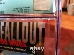 Ultimate Fallout #4 1st Print CGC 9.6 1st Miles Morales Spider-Man NM SIGNED